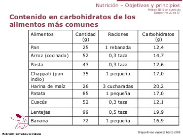 conteo de carbohidratos para diabetes pdf